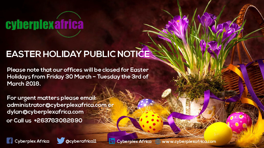 EASTER PUBLIC HOLIDAY NOTICE